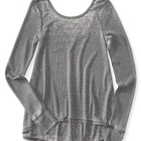 Aeropostale  Long Sleeve Waffle-Knit Swing Top