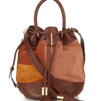 Vicki patchwork-suede bucket bag | See By Chloé | MATCHESFASHION.COM