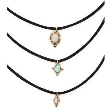 3 Colors All-match Turquoise Chokers Necklaces Alloy Cute Pendants Necklaces Hot-selling Sets Necklace—â€?Christmas Gift