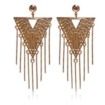 Earrings 18K Gold Galvanized Zircon Accessory
