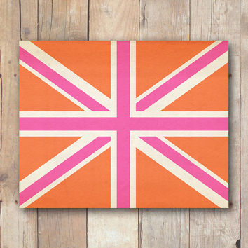 Union Jack print, British flag printable art, dorm wall art, nursery printable wall art printable download, Sherlock wall art, dorm decor