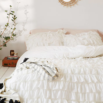 Waterfall Ruffle Duvet Cover | Urban Outfitters