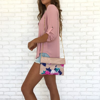 Blushing Blooms Handbag