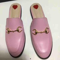 GUCCI New Fashion Slipper Female Love Heart Shoes Pink