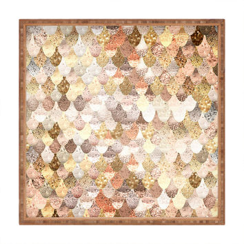 Monika Strigel Really Mermaid Gold Square Tray