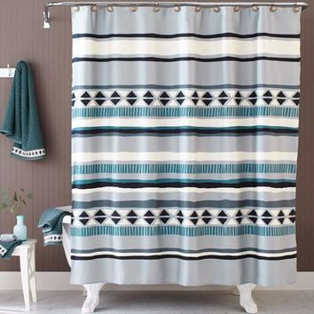 Better Homes and Gardens Graphic Stripe Shower Curtain - Walmart.com