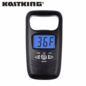 KastKing 2017 New Digital Hanging Fishing Scale 50kg 5g Mini Portable Backlight Pocket Scale with Temperature Measure Function