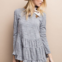 Tiered Ruffle Tunic Top