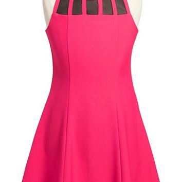 Girl's Laundry by Shelli Segal 'Chelsea' Illusion Fit & Flare Dress,