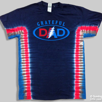 Grateful Dead Grateful Dad Tie Dye T-Shirt