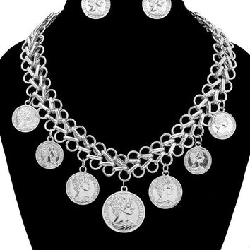 Coin Charms Necklace Set