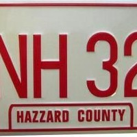 Dukes of Hazzard General Lee CNH 320 License Plate