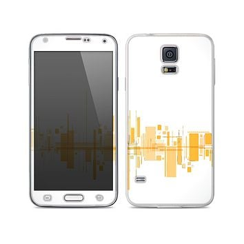 The Abstract Yellow Skyline View Skin For the Samsung Galaxy S5