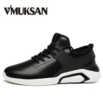VMUKSAN Brand New Shoes Men Big Size 39-48 Mens Shoes Casual Sneakers Fashion Designer Shoes Lace Up Flats Man