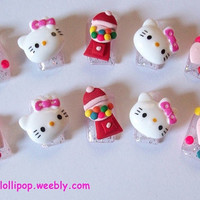 Japanese 3D Nail Art Set - Hello Kitty and Gumball Machines