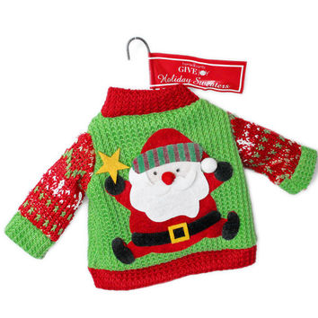 Santa Ugly Christmas Sweater Ornament