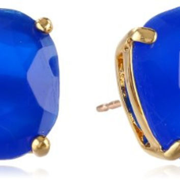 "kate spade new york ""Kate Spade Earrings"" Small Square Giverny Blue Stud Earrings"