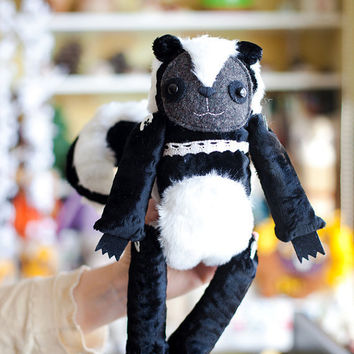 Magnificent Skunk , Made to order, soft art toy by Wassupbrothers