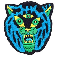 Three Eyed Tiger Chenille Large Patch