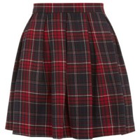 New Look Mobile | Red Tartan Check Skater Skirt