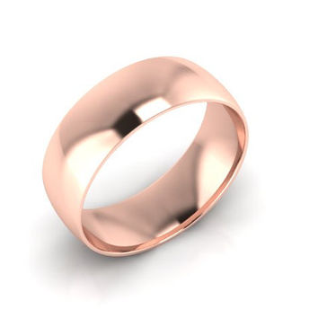 Wedding Band, Solid Gold Wedding Band 7.00mm 14K Rose Gold Wedding Band, Hand Made Wedding Band, Free Engraving, Promise Ring, 7.00mm