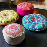 Felt Embroidered Gypsy Floor Cushions / grahamandgreen.co.uk