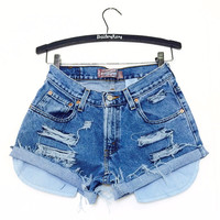 Levis Shorts - High Waisted Cutoffs Denim Cheeky - All Sizes xs s m l xl xxl