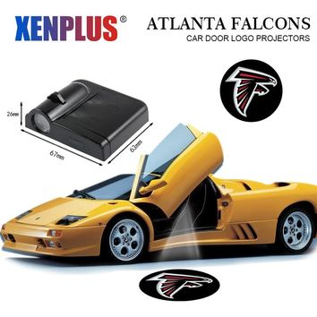 2pcs Car Door Welcome Lights Wireless Projector Logo for Atlanta Falcons Auto Interior Lamp Car-styling