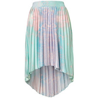 top shop high low pastel skirt