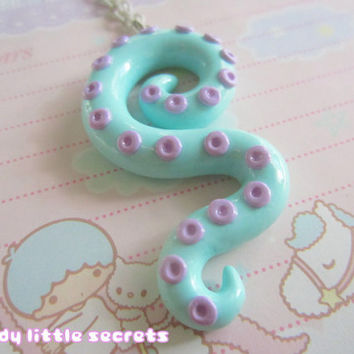 Pastel Octopus Tentacle Necklace