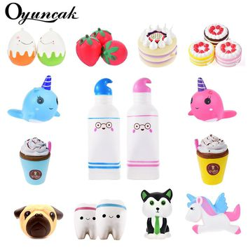 Oyuncak Squishy Toys Novelty Antistress Unicorn Squish Donut Jumbo Stress Relief Toys Surprise Popular Squeeze Anti-Stress Funny