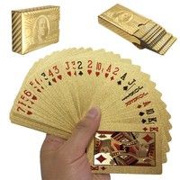 Gold Foil Plated Playing Cards Deck