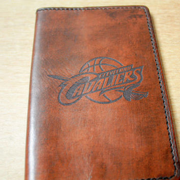 Leather passport cover for the fans Cleveland Cavaliers NBA basketball custom passport personalized passport case gift for a fan