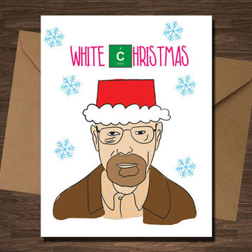 Breaking Bad Funny Christmas Card Set Walter White Pop CUlture Boyfriend Girlfriend Husband Wife