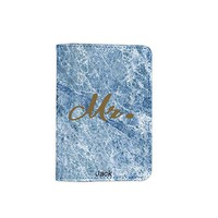 Mr. Marble Stone Pattern Customized Cute Leather Passport Holder - Passport Covers - Passport Wallet_SUPERTRAMPshop