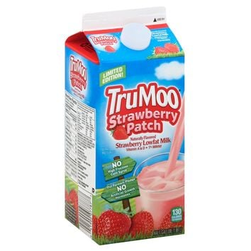 TruMoo Strawberry Patch 1% Milk - 0.5gal