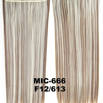 """Wig,Hair Extension,Clip in synthetic hair extension,5 clips ponytail,Heat resistance synthetic fibre,MIC-666 F12/613,100 g 24 """" 1PCS"""