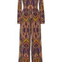 Etro - Printed stretch-crepe jumpsuit