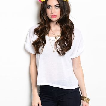 Curious Gypsy Basic White Tee