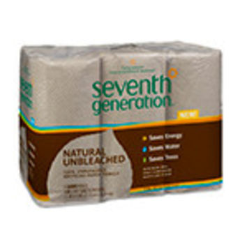 Seventh Generation Paper Towels (100% Recycled) Natural Unbleached 2-ply 120 sheets 6-pack