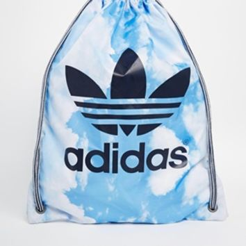 Adidas Drawstring Backpack in Cloud Print
