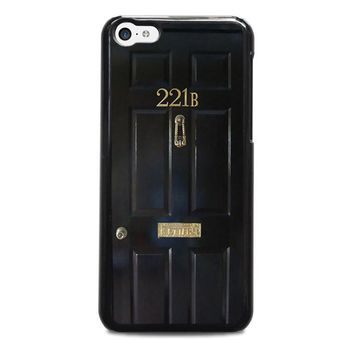 the door of sherlock holmes iphone 5c case cover  number 1