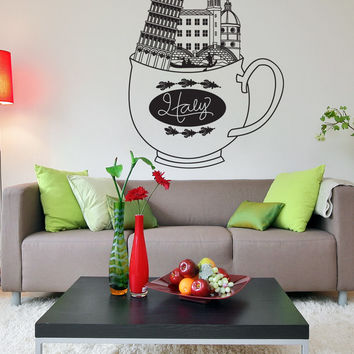 Vinyl Wall Decal Sticker Cup of Italy #OS_DC731