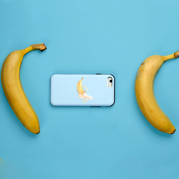 Dirty Banana Mosaicify iPhone Case With Card Holder
