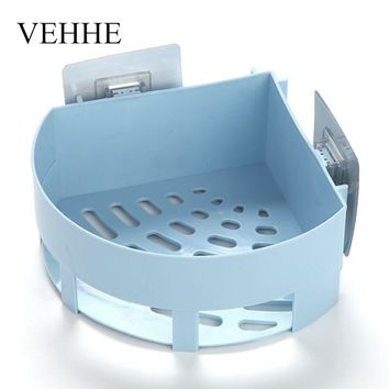 VEHHE Multifunction Plastic Bathroom Shelf Wall Hanging Corner Shelf Shampoo Holder Shower Basket Bathroom Accessory Rack VE226
