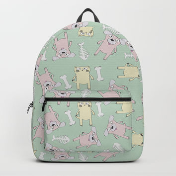 Raining Cats and Dogs Backpack by lalainelim