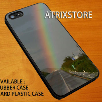 road rainbow,Accessories,Case,Cell Phone,iPhone 5/5S/5C,iPhone 4/4S,Samsung Galaxy S3,Samsung Galaxy S4,Rubber,24-06-10-Xm