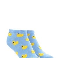 Duck Print Ankle Socks