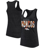 Women's Denver Broncos 5th & Ocean by New Era Charcoal Floral Team Tank Top