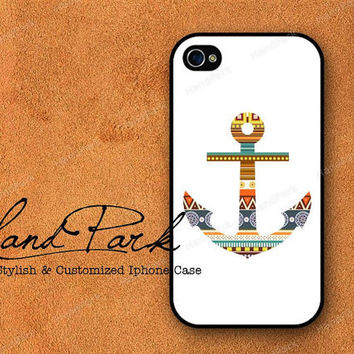 Aztec Anchor iPhone 4 Case iPhone 4s Case iPhone Case by HandPark